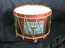 Civil War 14th Reg't Lt. Infantry Field Drum Mfd. By William Kilbourn in Batavia, Illinois