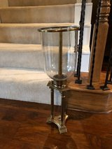 Gold and Glass Candle holder in Kingwood, Texas