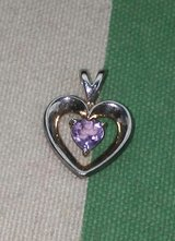 Silver Amethyst Heart in Baytown, Texas