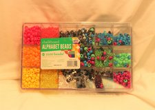 Beardery Chalkboard Alphabet 2100ct Beads Craft Hobby Jewelry Bracelet Plastic in Kingwood, Texas