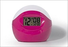 NEW IOB Timelink Color-Changing Alarm Clock Morning Sleep Work School Pink Green White in Houston, Texas