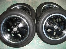 15inch rims and tires set(4) in Okinawa, Japan