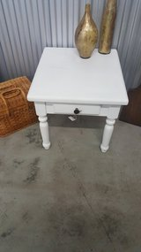 White end table brown knob in Camp Lejeune, North Carolina