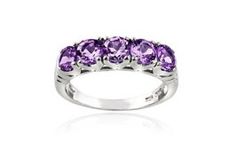 ****BRAND NEW***1.25 CTTW Amethyst Half-Eternity Ring in Sterling Silver****... in Kingwood, Texas