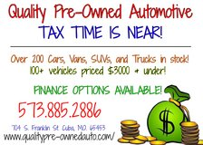 QUALITY PRE-OWNED AUTO'S TAX INVENTORY IS IN!! in Fort Leonard Wood, Missouri
