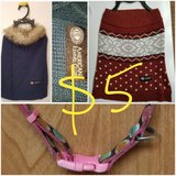 2 Doggie sweaters and collar in Sugar Land, Texas