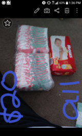 Size 4 and Newborn diapers in 29 Palms, California