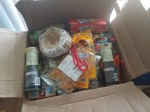 Box of f o o d for free in Schofield Barracks, Hawaii