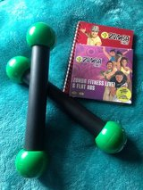 Zumba weights, file and dvd in Lakenheath, UK