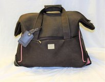 Liz Claiborne Brown Rolling Duffle Bag Luggage Suit Case Travel Vacation Soft Side Handle Collap... in Kingwood, Texas