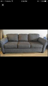 Dark black grey couch in Waukegan, Illinois