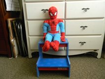 Spiderman stool and doll in Okinawa, Japan