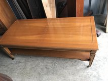 Cherry Coffee Table w/ Glass Top in Cherry Point, North Carolina