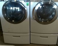Samsung Washer/Dryer Set with Pedestal in Wilmington, North Carolina