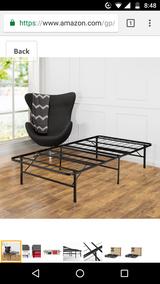 Twin XL metal bed frame in Indianapolis, Indiana