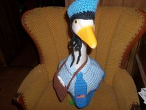Mailman Geese Goose Outfit Crochet Lawn and Garden Decor in Belleville, Illinois