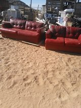 2 red sofas in Fort Bliss, Texas