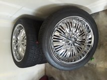 22inch Chrome Rims/Tires in Fort Hood, Texas