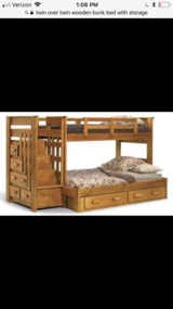 Bunk Bed- Twin over Twin w/ Storage in Shorewood, Illinois