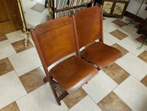 Vintage Double Folding Wood Chair in Fort Leonard Wood, Missouri