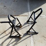 Motorcycle stands in Vacaville, California