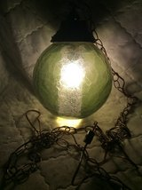 Vintage: Hanging Green Glass Globe Light in Warner Robins, Georgia