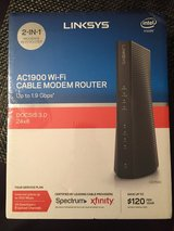 Linksys AC1900 Dual-Band Wi-Fi Router and Cable Modem in Baytown, Texas