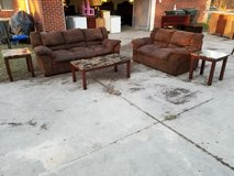 Brown Couch Set With Tables! in Warner Robins, Georgia