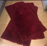 3 Shaggy Area Rugs in Maroon/Red in Spangdahlem, Germany