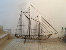 Large metal decorative boat in Baumholder, GE
