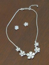 Silver Floral Necklace/Earring set in Aurora, Illinois