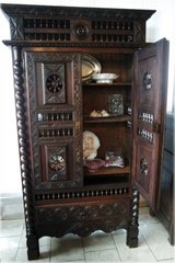 superb one of a kind Breton cabinet with beautiful carvings in Stuttgart, GE