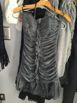 BeBe dress grey small paid $89 in Vacaville, California