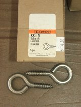 Stainless Steel #0 Large Eye Screws Hardware NEW in BOX in Glendale Heights, Illinois