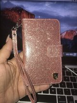 iPhone 7/8 rose gold glitter wallet case in New Lenox, Illinois
