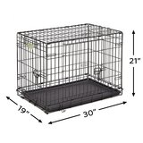 MidWest iCrate w/Double Door Folding Metal Dog Crate in St. Charles, Illinois