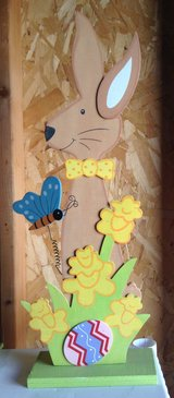 Wood bunny deco in Fort Irwin, California