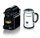 Nespresso Inissia Espresso Maker w/ Aeroccino Plus Milk Frother in Baytown, Texas