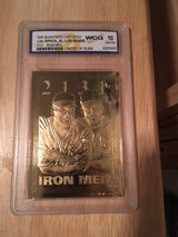 "CAL RIPKEN JR & LOU GEHRIG 1995 ""Iron Men"" (2131) 23kt Graded (10) Gold Card in Fort Lewis, Washington"