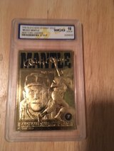 *** MICKEY MANTLE 1996 Bleachers 23kt Graded Gold Card *** in Fort Lewis, Washington
