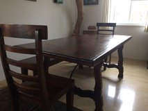 Dining Table with Bench and 2 Chairs in Grafenwoehr, GE
