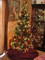 6 FT CHRISTMAS TREE WITH COLOR LIGHTS in Camp Lejeune, North Carolina
