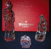 WATERFORD CRYSTAL Nativity Donkey Sheep Angels Kings EXCELLENT in BOXES in Aurora, Illinois