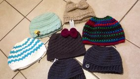 Crochet messy bun hats in Lawton, Oklahoma