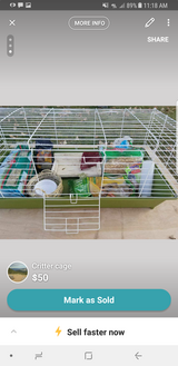 Cage with everything need gone today in Colorado Springs, Colorado