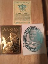 *** HANK AARON 1996 Bleachers 23kt Gold Card with C.O.A.*** in Fort Lewis, Washington