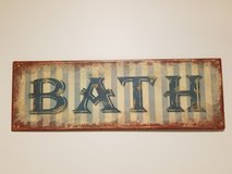 metal bath sign in Chicago, Illinois