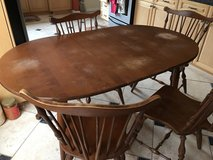 Rockport Maple Table w/Leaf & 4 Chairs in Vacaville, California