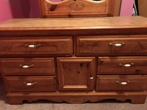 Bassett dresser/mirror, lingerie chest and queen headboard in Shorewood, Illinois