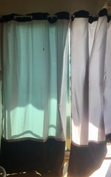 grey and black curtains in Okinawa, Japan